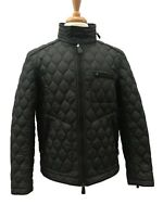 Coach 83741 Men's Bowery Quilted Racer Jacket Coat with Stowable Hood Black