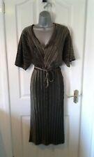 BNWT LADIES BEAUTIFUL BRONZE VELVET  EFFECT DRESS FROM  RIVER ISLAND SIZE 10 £42