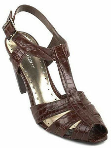 New BCBGirls Women Leather High Heel Dress Slingback Sandal Pump Shoe Sz 8 B