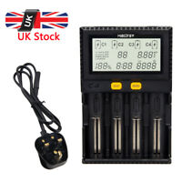 Intelligent LCD Mains Battery test Charger Tester Li-ion 18650 26650 AAA AA UK