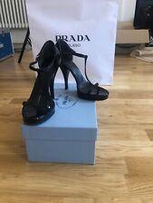 Prada High Heels Sandals T-Strap Platform Pumps Stilettos Shoes EU 37 UK4