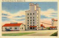 East Georgia Peanut Company Statesboro GA Linen Postcard