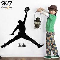 Basketball Jordan Customized Name Sports Vinyl Wall Sticker Decal Kids Boys Room
