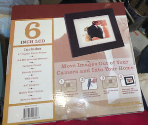 """NEW Pandigital 6"""" LCD Digital Picture PHOTO Frame 128MB REMOTE CONTROL USB A/C"""