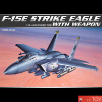 Academy 1/48 F-15E STRIKE EAGLE WITH WEAPON Aircraft Plastic model kit #12264