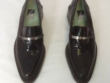 Charles Jourdan designer women's Brown snake skin  loafers size 6.5 m on sale