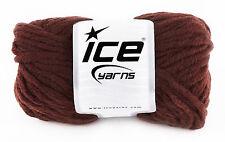 Voluminosos de hilo de tejer. Hielo Hilos. marrón Oscuro. 50% lana, 50% Acrílico. No. 17628