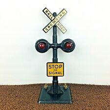 Railroad Crossing Signal Marx Train Sign All Metal Original Paint