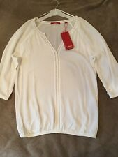 s.OLIVER, Gorgeous New with tags Ladies White Top/Blouse,size 10