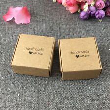 50pcs Kraft Paper Gift Box Packaging Box Kraft Cardboard Handmade Soap Candy Box