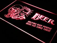j003-r Helping Ugly People Have Sex Bar Neon Light Sign