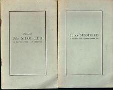 Jules Siegfried & Madame Siegfried Discours prononcés par Pasteur Bost et Monod