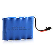 6V 1400mAh RC Ni-Cd SM 2Pin Plug AA Toy Car Rechargeable Battery For Racing Car