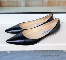 JIMMY CHOO Black Leather Flats gr. EUR 39.5