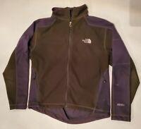 X4 The NORTH FACE Full Zip FLEECE Sweater Jacket WINDWALL Green/Gray Mens MD