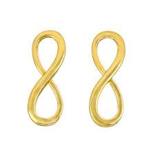 Bijoux infinity lien connecteur plaqué or charms 30mm-pack de 2 (H91/1)