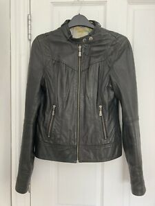 Black Ted Baker Leather Jacket Size 2