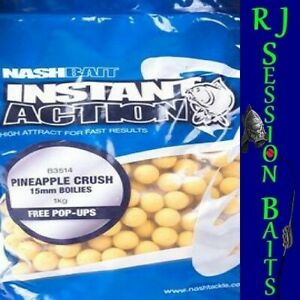 Nash Pineapple Crush 15mm Session Pack of 25 Boilies