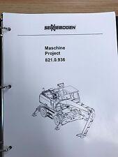Sennebogen 821 Parts Manual Binder 821.0.936 USPS Priority Mail