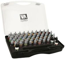 Game Acrylic Paint Set by Vallejo 72 Color Colours 3 Brushes 72172