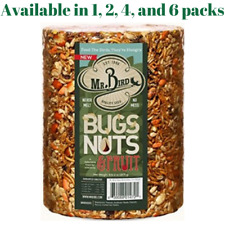 Mr. Bird Bird Seed Large Cylinder Bugs, Nuts & Fruit 4 lbs. 2 oz.