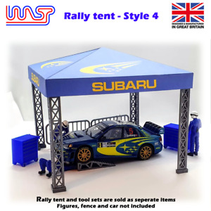 WASP Rally service tent & Pit tool set, Tools, bench, scenery, 1/32, kit, pit