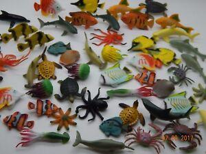 12 Mini plastic sea creatures! Fish! Sharks! Whale! Turtle etc Educational