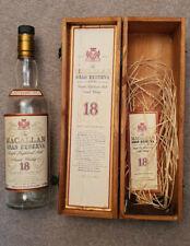 Macallan Gran Reserva 1979 Bottle & Box (Empty)
