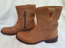NEW FIORENTINI + BAKER Cognac Leather Ankle Boots Studs 36 6.5 7 37 Festival
