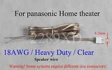 one Speaker cable/wire 10ft 18AWG for panasonic DVD/Blu-ray home theater (8.2mm)