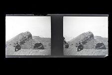 Italie Italia Paysage volcanique Plaque de verre stereo NEGATIF 1911