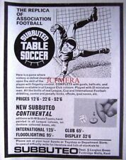 1970 'SUBBUTEO' Table Soccer Game ADVERT #2 - Very SMALL Vintage Print AD