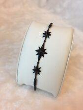 Black Ion-Plated Starburst Pave Slider Bracelet by Michael Kors - NEW!