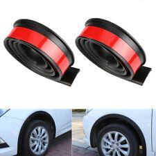 2PCS 1.5m Black Car Wheel Eyebrow Arch Trim Lips Strip Fender Flare Protector