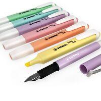 STABILO Swing Freddo Pastello Evidenziatori - Set Di 6 + Penna Stilografica -