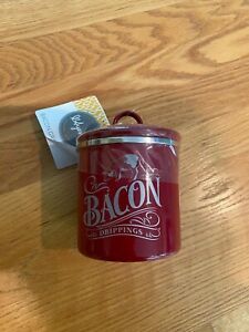 Red Bacon Drippings canister New with tags