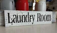 LAUNDRY ROOM sign farmhouse wood sign farm house sign laundry room sign crackle