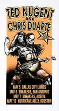 Ted Nugent POSTER Chris Duarte 1994 Texas Derek Hess Silkscreen Signed Numbered