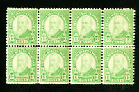 US Stamps # 694 Superb OG NH Block of 8