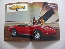 1973 Corvette Poster Brochure