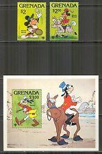 Grenada # 957-959, 1979 Sports Scenes - Walt Disney Characters, Unused NH