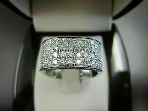 Luxurious Men's Engagement & Wedding Ring 14K White Gold 3.23 Ct Round Diamond