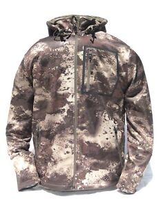 Cabela's Men's Lookout Series Fleece Hooded Silent Hunting Jacket O2 Octane Camo
