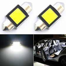 2X 6000K White Super Bright COB LED Map/Dome Interior Lights Bulbs 31MM Festoon