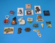 LOT 18 Vintage Fridge Magnets- Dogs, Rabbit, Bear, Horse, Telephone, Travel