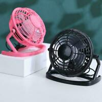 1* Portable Small Desk USB Cooler Cooling Fan USB Mini Silent Fans Control S6U3