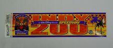 Indy 200 Walt Disney World Speedway Event Bumper Sticker Decal