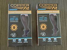 Copper Fit Unisex Compression Socks 2 Pairs S/M Mens 6-9 Womens 7-10