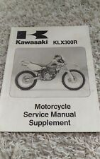 1997 Kawasaki Klx300R Klx 300 A2 Klx300-A2 Service Repair Manual Supplement Oem