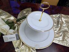 Noble enormes etagere 31 cm de diámetro 2 niveles Rosenthal Versace Meandre d 'or